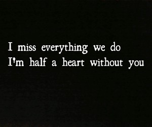 i miss you, without you, and half a heart image