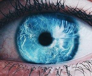 eye, blue, and amazing image