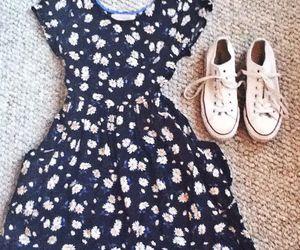 dress, fashion, and whit image