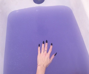 purple, nails, and grunge image