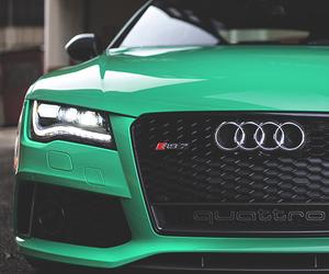 audi, car, and green image
