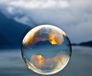 bubble and reflection image