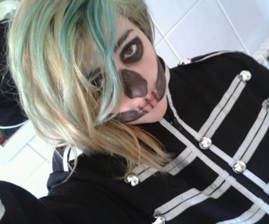 green hair, my chemical romance, and uniform image