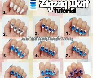 diy, nails, and stripes image