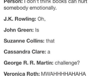 book, john green, and suzanne collins image