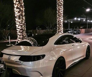 car, mercedes, and white image