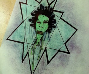 alien, drawing, and geometric image