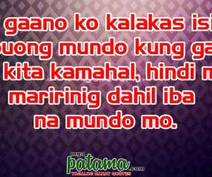 quotes, quotes about moving on, and tagalog patama quotes image