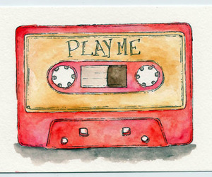 cassette, play me, and drawing image