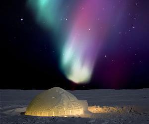 igloo, light, and nature image