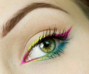 beauty, cosmetic, and eyes makeup image
