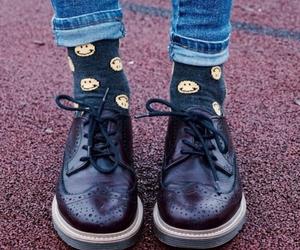 socks, grunge, and shoes image