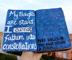 stars, book, and tumblr image