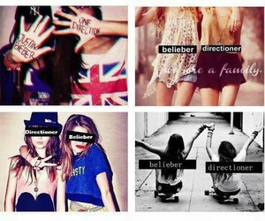 belieber, directioner, and one direction image