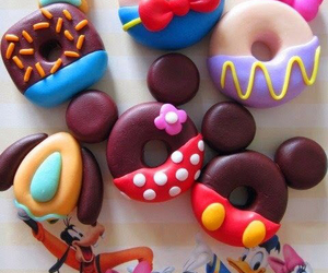donuts, disney, and food image
