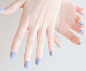 nails, blue, and pastel image