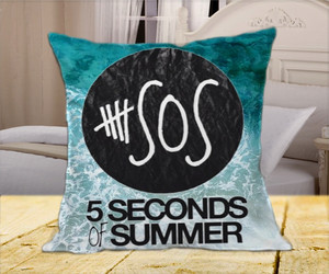 pillow case, 5sos, and 5 second of summer logo image
