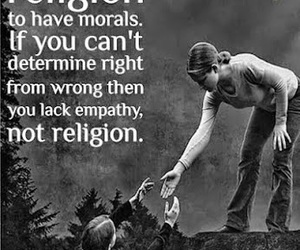 religion, empathy, and morals image