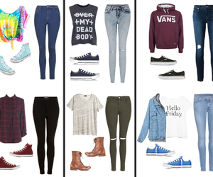 converse, vans, and teen clothes image