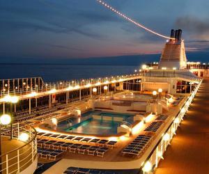 luxury, cruise, and lights image