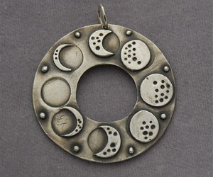 moon pendant, lunar phases, and lunar phases pendant image