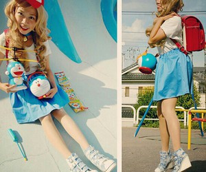 kawaii, j fashion, and doraemon image