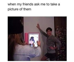 funny, friends, and selfie image