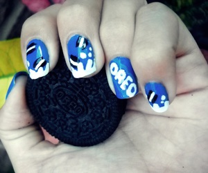 oreo, nailart, and uñas decoradas image