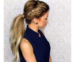 braid, girl, and haircut image