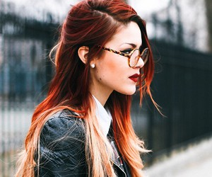 hair, style, and red hair image