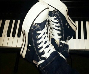 all star, converse, and music image