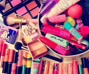 makeup, cosmetics, and girly image