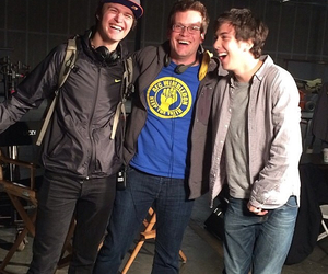 ansel elgort, john green, and paper towns image