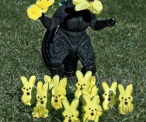 black, peeps, and easter candy image