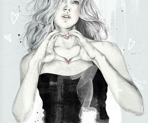 illustration, girl, and art image