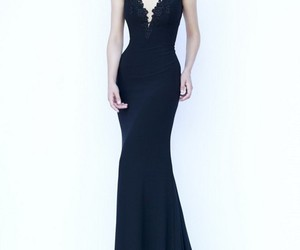 prom dresses, floor-length, and prom evening dress image