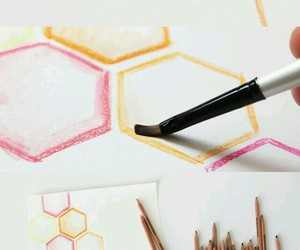 colorful pencils, diy painting, and diy canvas image
