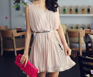 dress, purse, and fashion image