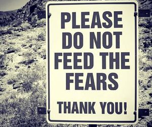 fear, quotes, and sign image