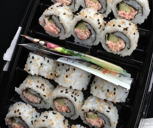 fish, pale, and sushi image