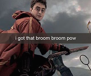 harry potter, funny, and snapchat image
