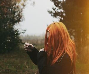 ginger, wood, and girl image