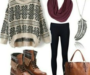 boots, outfits, and fall image