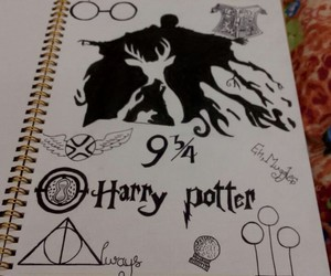 art, doodle, and harry potter image