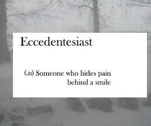 pain, smile, and sad image