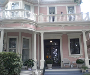 house, pale, and pink image