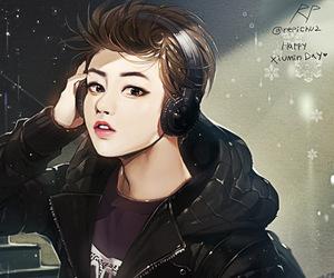 exo, fanart, and xiumin image