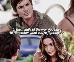 caleb, emily, and pll image