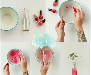 diy, pink, and bottle image