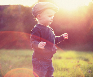 boy, light, and nature image